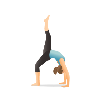 Yoga Pose: One Legged Wheel, One Legged Upward Bow (Eka Pāda Ūrdhva Dhanurāsana)